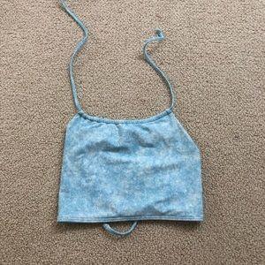 Aerie high neck bikini top